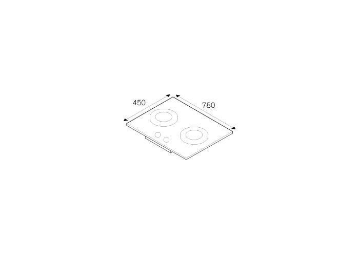 75 2-Burners Gas Hob Ceramic Glass | Bertazzoni La Germania