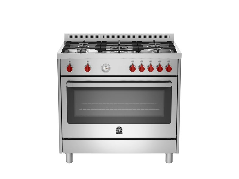 90 5-Burners Electric Oven BX | Bertazzoni La Germania - Stainless